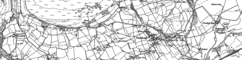 Old map of White Pike in 1898