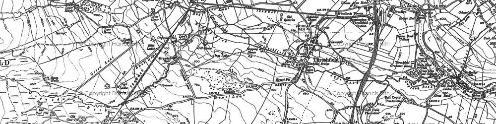 Old map of Threshfield in 1907