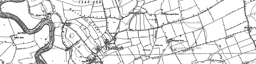Old map of Yafforth Grange in 1891