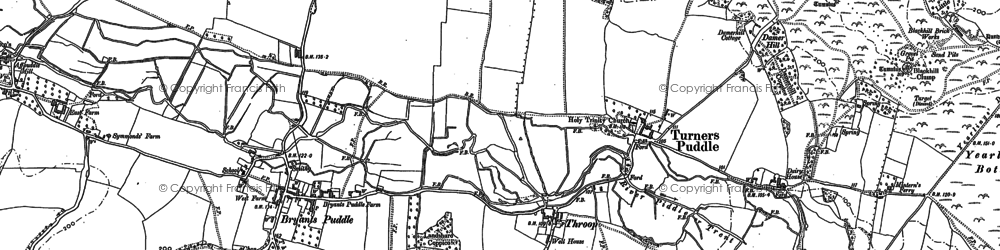 Old map of Throop in 1885