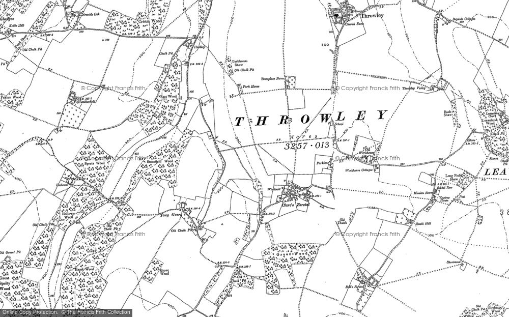 Old Map of Historic Map covering Tong Green in 1896