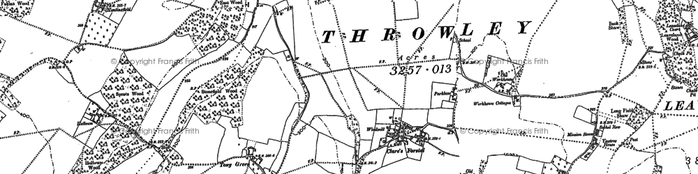 Old map of Tong Green in 1896