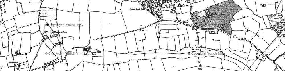 Old map of Thurlestone Grange in 1881