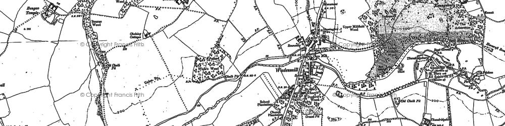 Old map of Ashridge Common in 1895