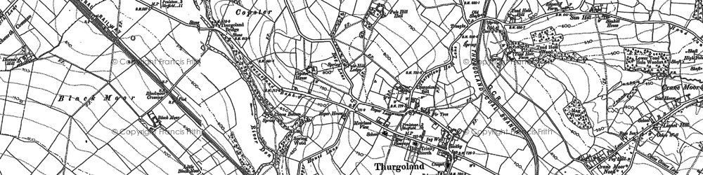 Old map of Thurgoland in 1891
