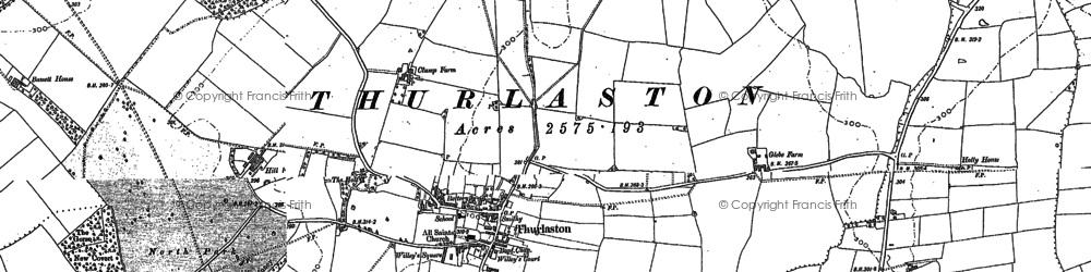 Old map of Alder Hall in 1885