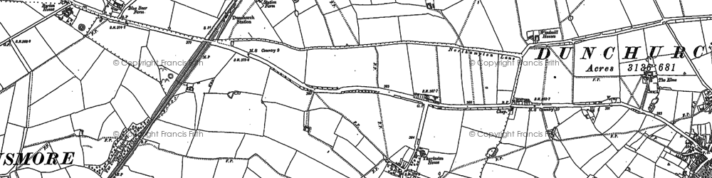 Old map of Toft in 1885