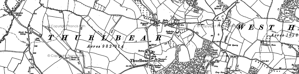 Old map of Witch Lodge in 1886