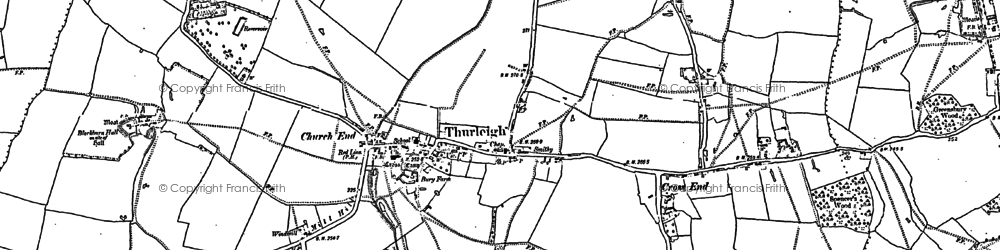 Old map of Backnoe End in 1882