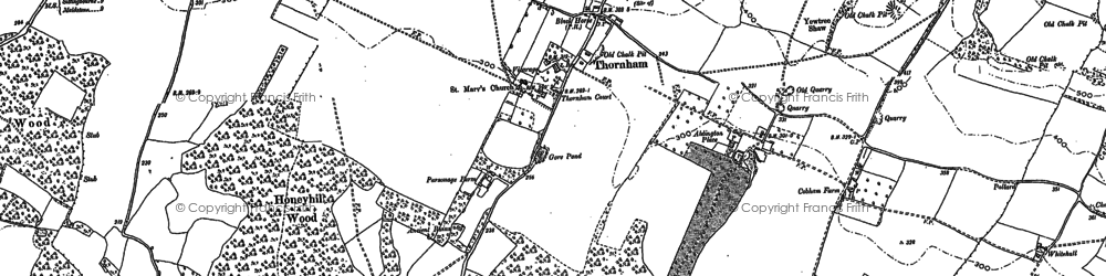 Old map of Thurnham in 1895