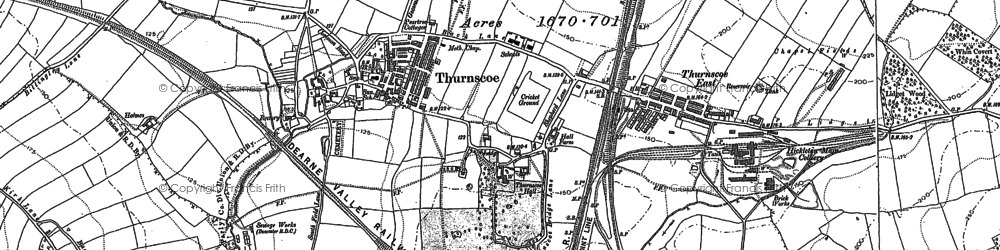 Old map of Thurnscoe in 1890