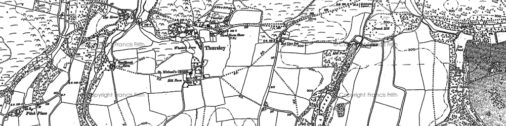 Old map of Witley Common in 1895
