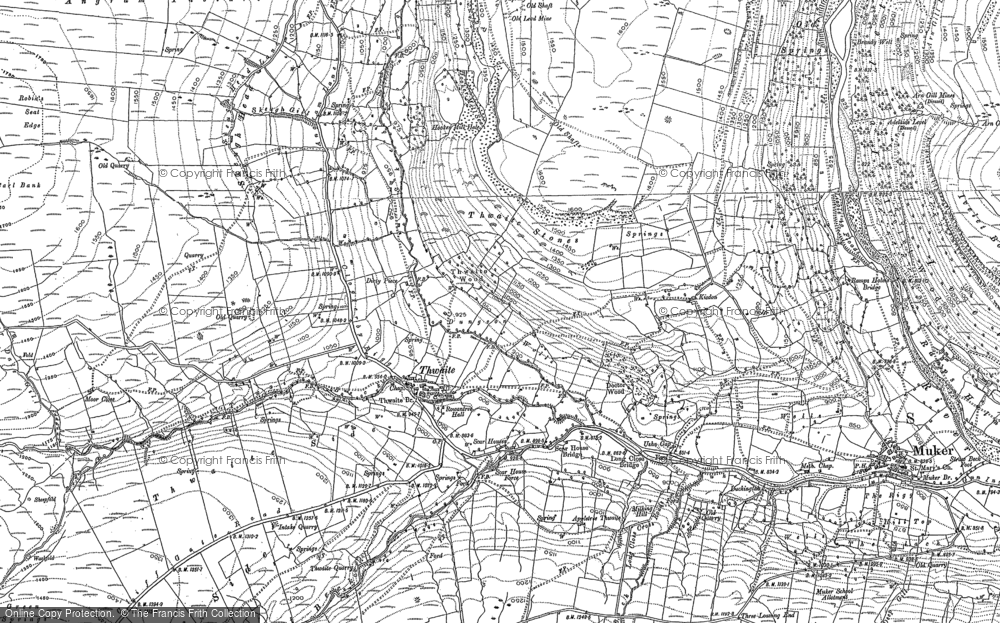 Old Map of Thwaite, 1891 - 1950 in 1891
