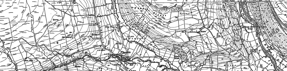 Old map of Thwaite in 1891