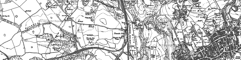 Old map of Thwaite Flat in 1911