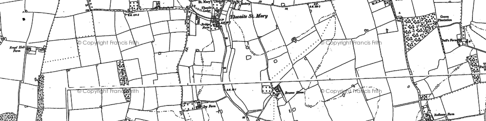 Old map of Tindall Hall in 1884