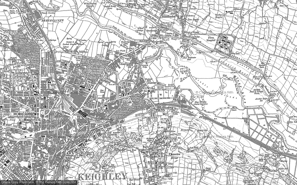 Old Map of Thwaites, 1848 - 1893 in 1848
