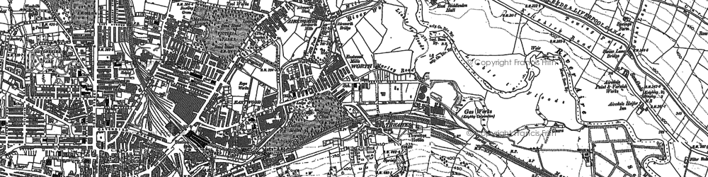 Old map of Thwaites in 1848