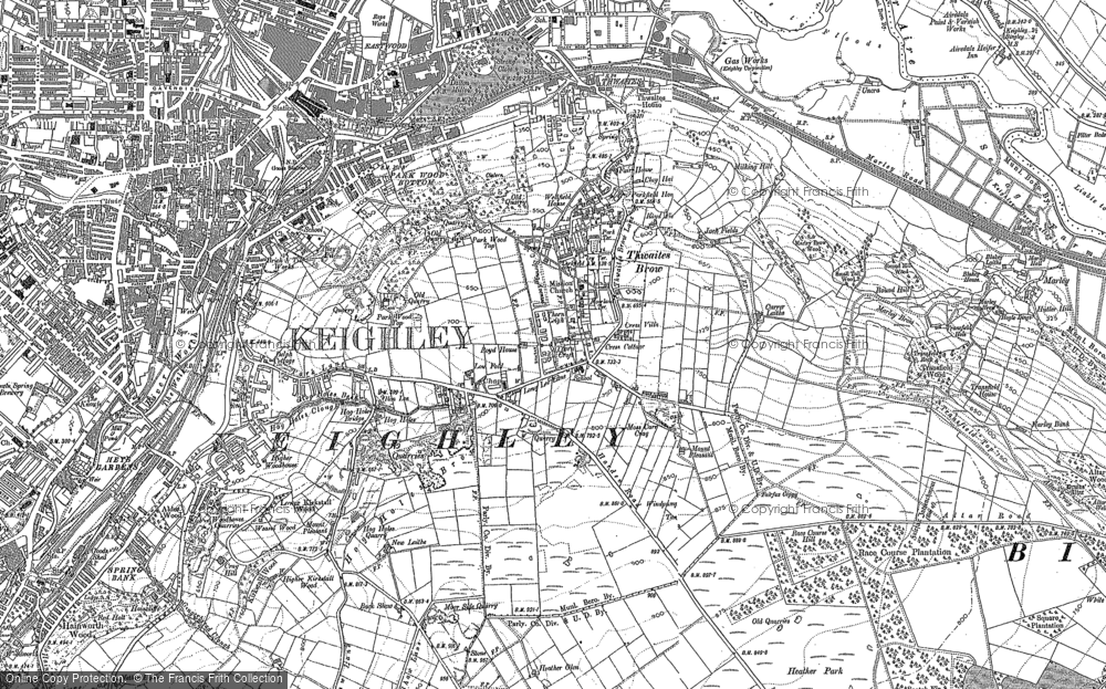 Old Map of Thwaites Brow, 1848 - 1893 in 1848