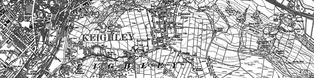 Old map of Thwaites Brow in 1848