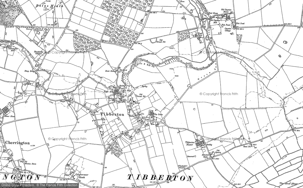 Old Map of Tibberton, 1880 in 1880