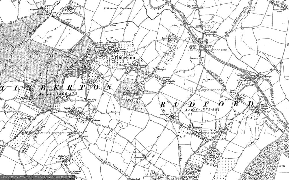 Old Map of Tibberton, 1882 in 1882