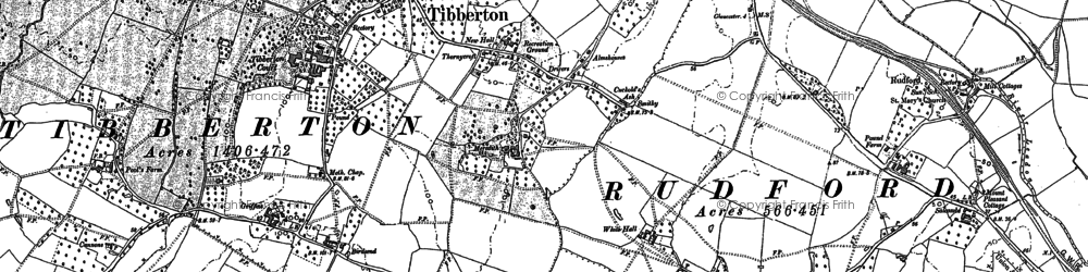 Old map of Tibberton in 1882