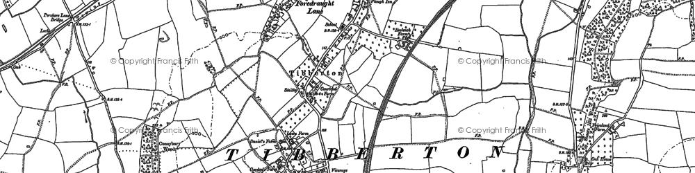 Old map of Tibberton in 1884