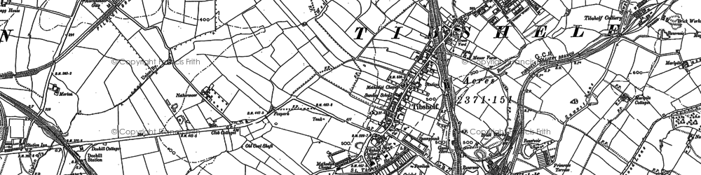Old map of Westwood Brook in 1877
