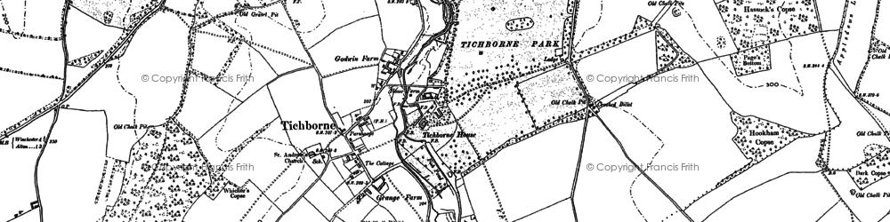 Old map of Tichborne Park in 1895