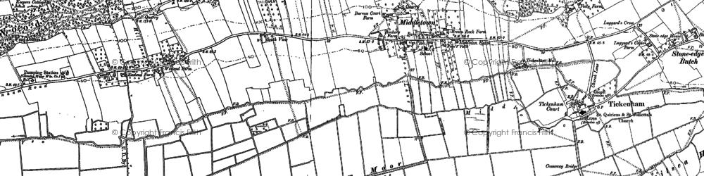 Old map of Tickenham in 1883