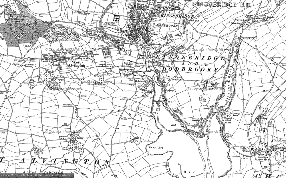 Old Map of Ticket Wood, 1884 - 1905 in 1884