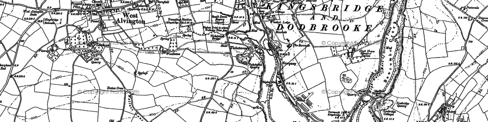 Old map of Ticket Wood in 1884