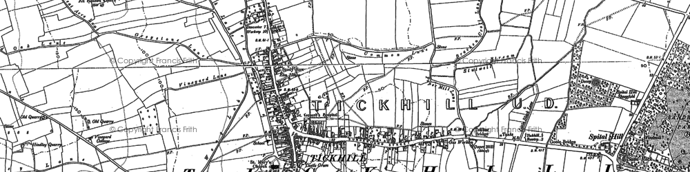 Old map of All Hallows Hill in 1901
