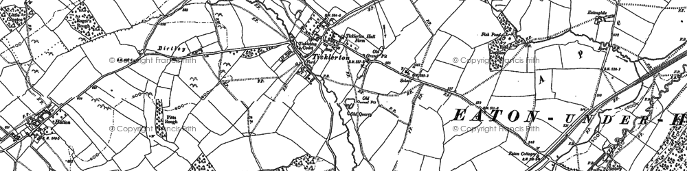 Old map of Ticklerton in 1882