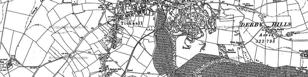 Old map of Woodside in 1881