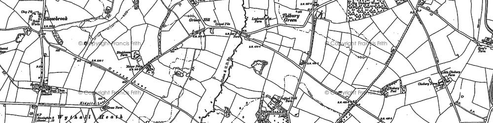 Old map of Tidbury Green in 1886