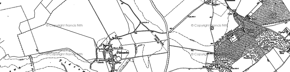 Old map of Tidcombe Down in 1922