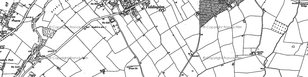 Old map of Alveston Hill in 1885