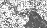 Old Map of Tideford, 1882 - 1888