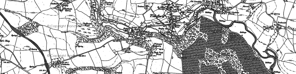 Old map of Lantallack Cross in 1882