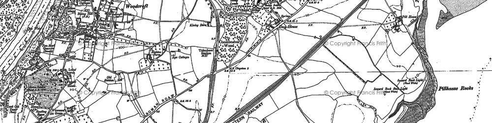 Old map of Tidenham in 1900