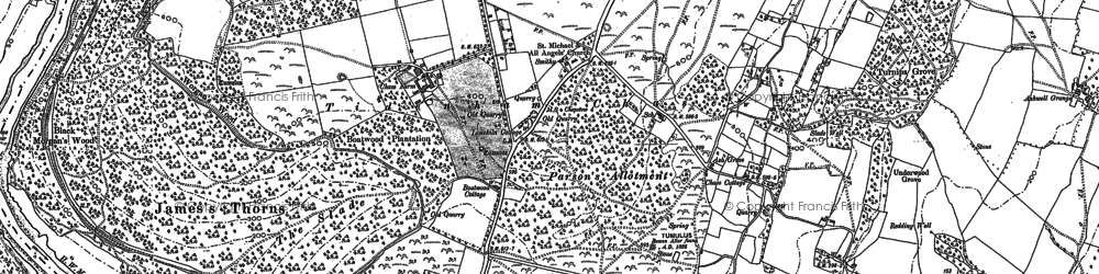 Old map of Tidenham Chase in 1900