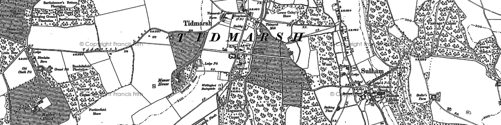 Old map of Tidmarsh in 1898