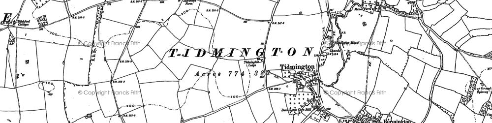 Old map of Tidmington in 1900