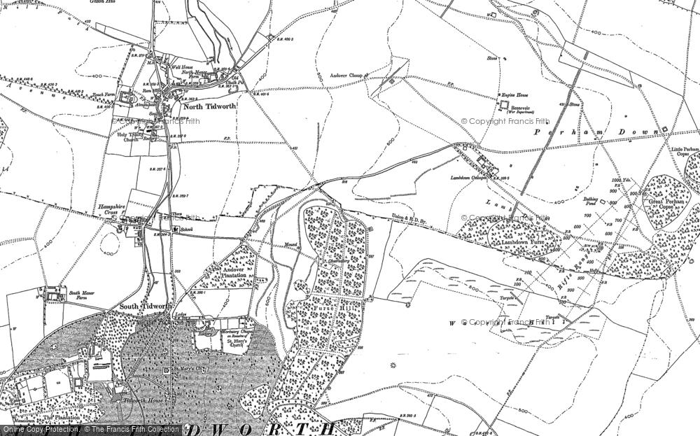 Map of Tidworth, 1899 - 1909