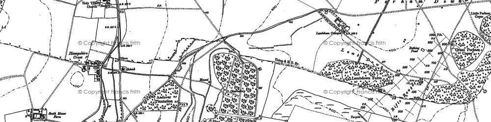 Old map of Tidworth Camp in 1899