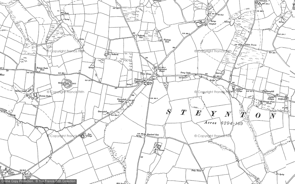 Old Map of Tiers Cross, 1906 in 1906