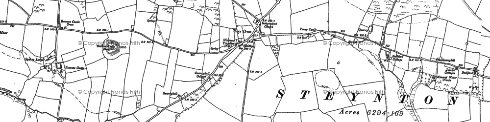 Old map of Tiers Cross in 1906