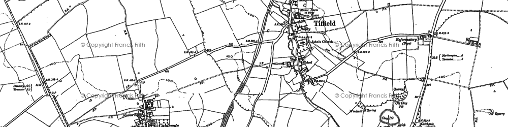 Old map of Tiffield in 1883